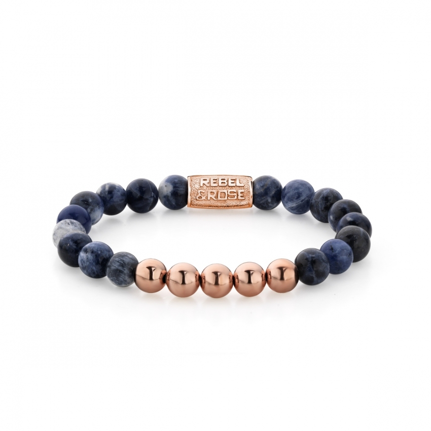 PO - Midnight Blue - 8mm - rose gold plated