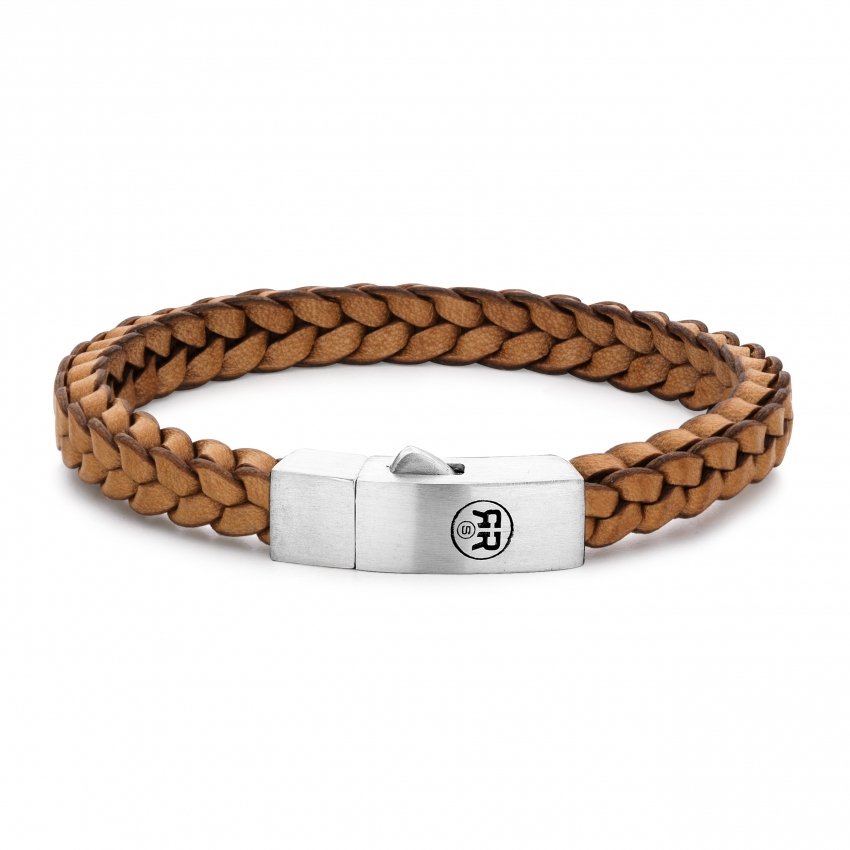 Braided Square 925 Cognac