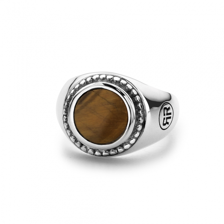 Ring Women Round Tiger Eye