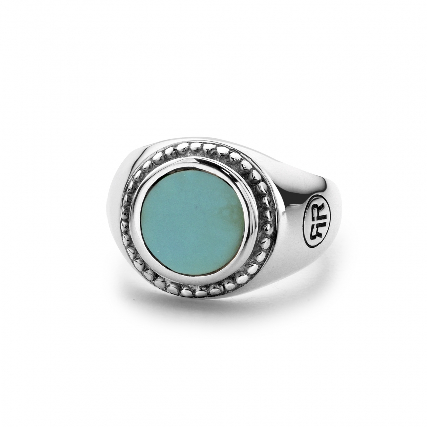 Ring Women Round Turquois