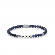 Midnight Blue - 4mm - silver colored