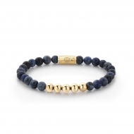 Midnight Blue - 6mm - yellow gold plated