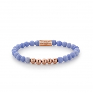 PO - Lavender Lila - 6mm - rose gold plated
