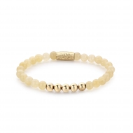 PO - Ivory Beige - 6mm - yellow gold plated
