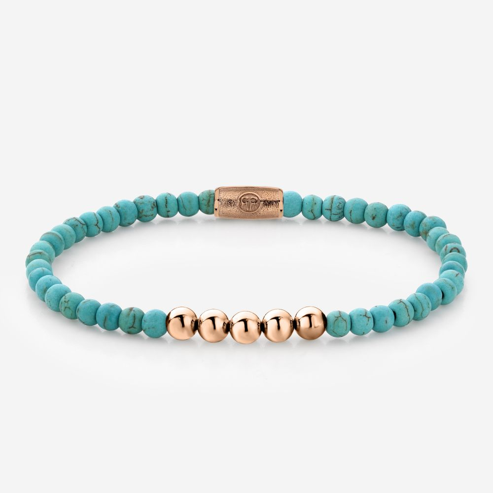 More Balls Than Most - Turquoise Delight - 4mm - rose gold plated