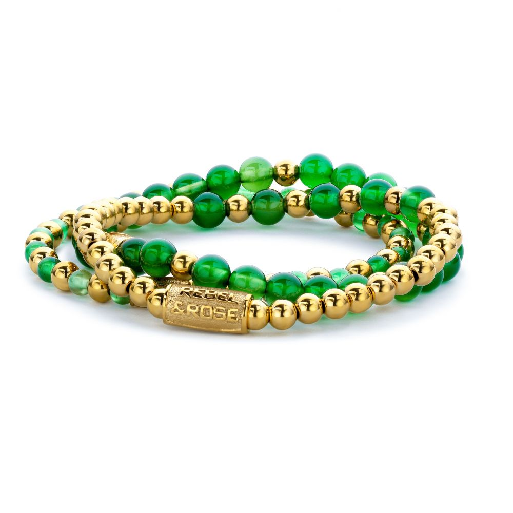 More Balls Than Most - Yellow Gold meets Green Harmony - 6mm