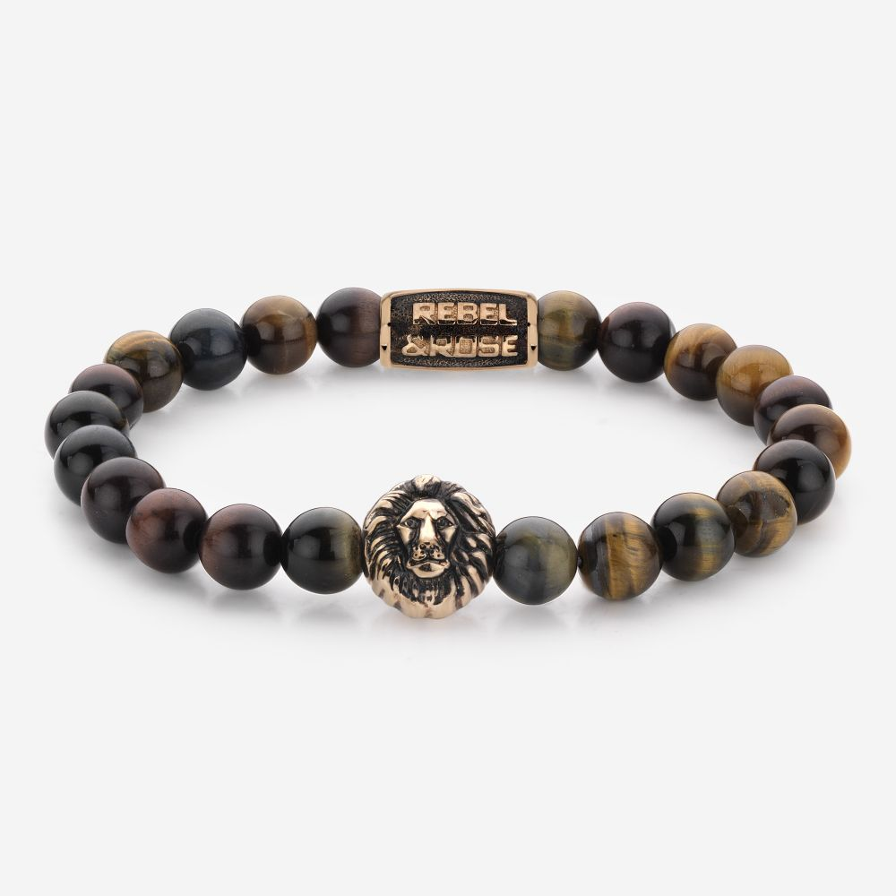 Lion Head - Who's afraid of the Lion - rose gold plated