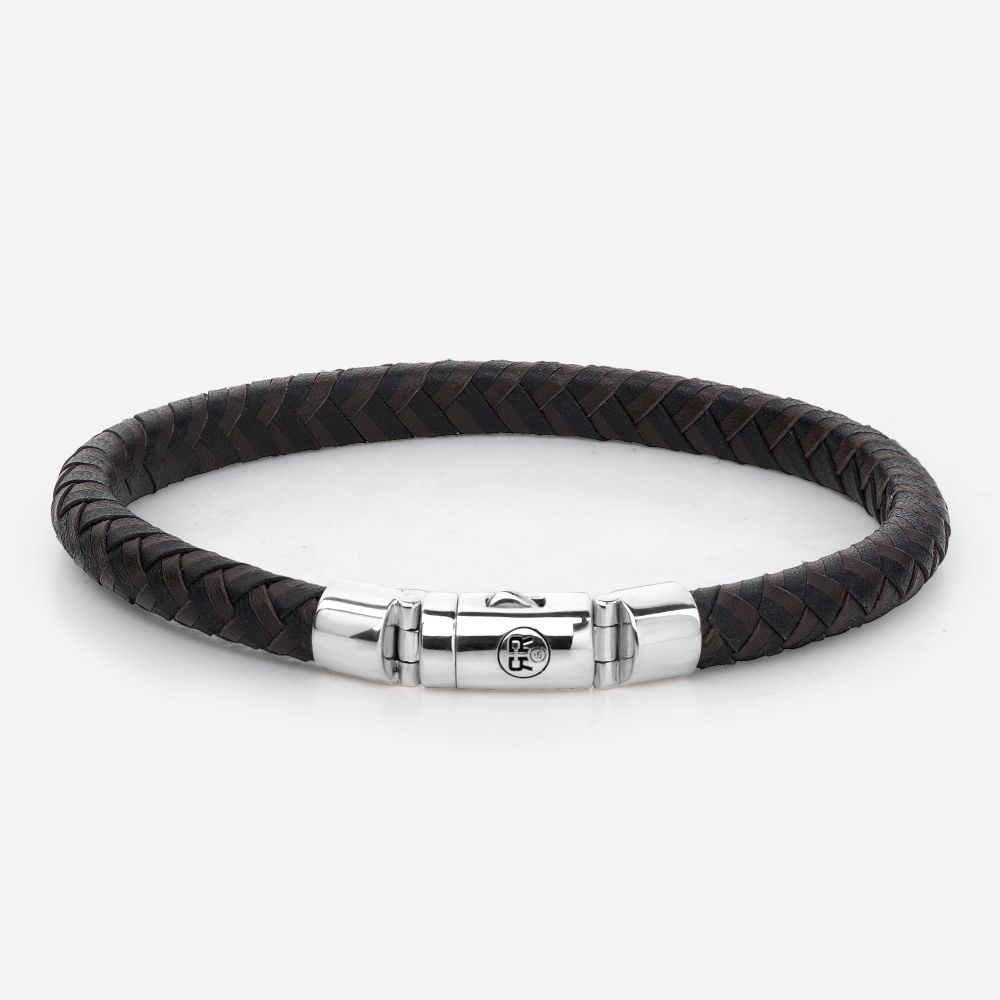 Absolutely Leather - Half Round Braided Black-Earth