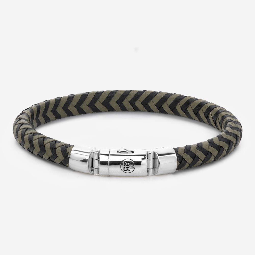 Absolutely Leather - Half Round Braided Black-Olive