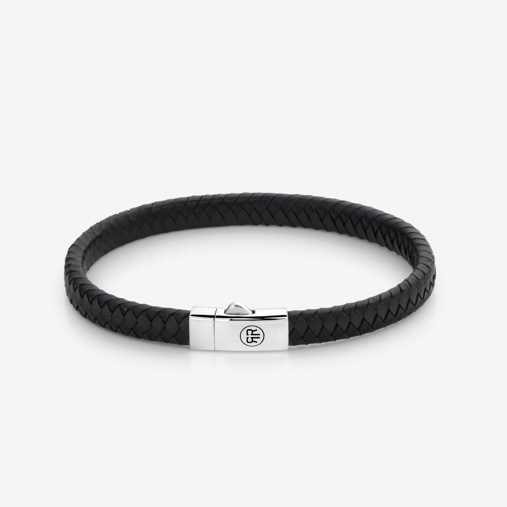 Absolutely Leather - Small Braided Black-Earth