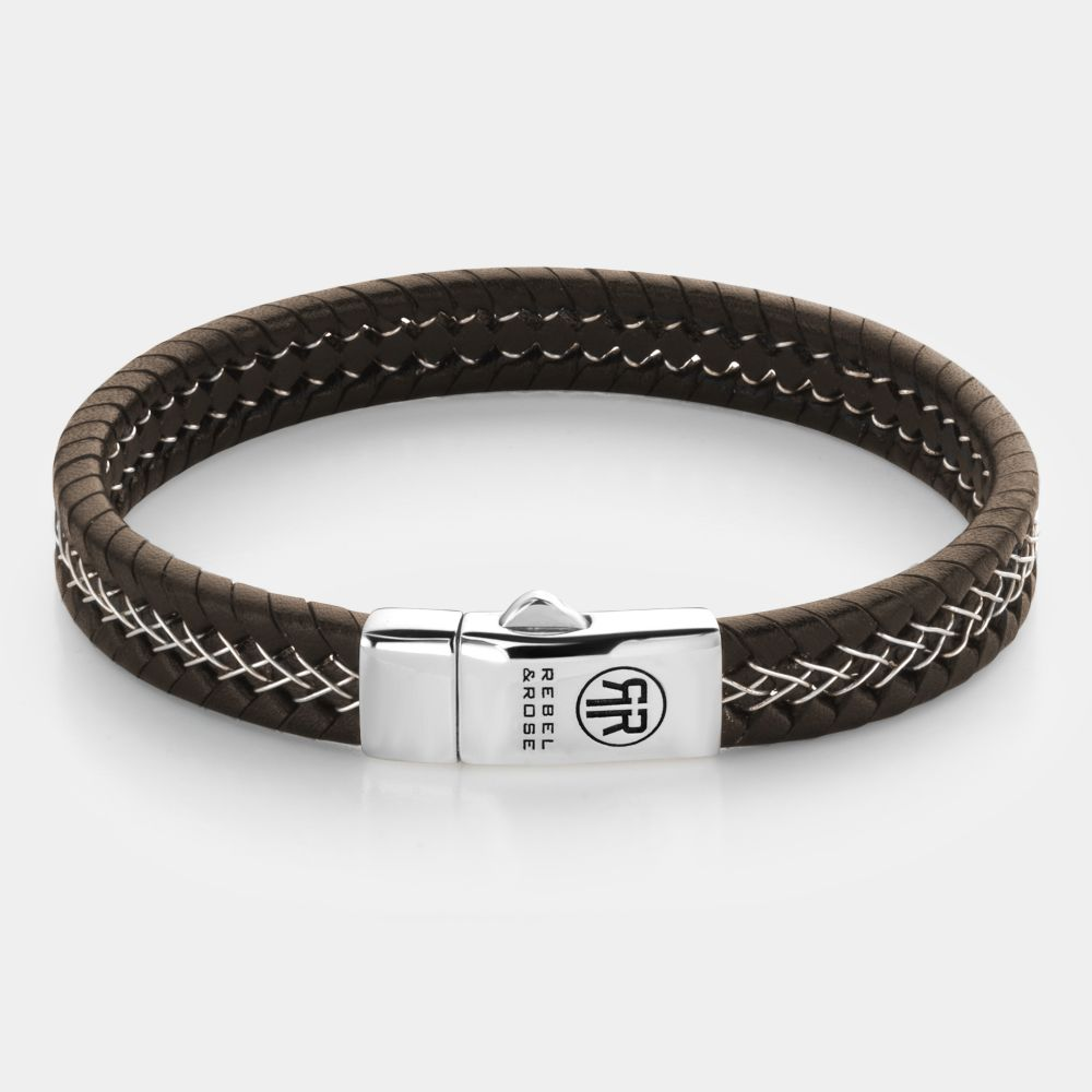 Absolutely Leather - Silver Wired Brown