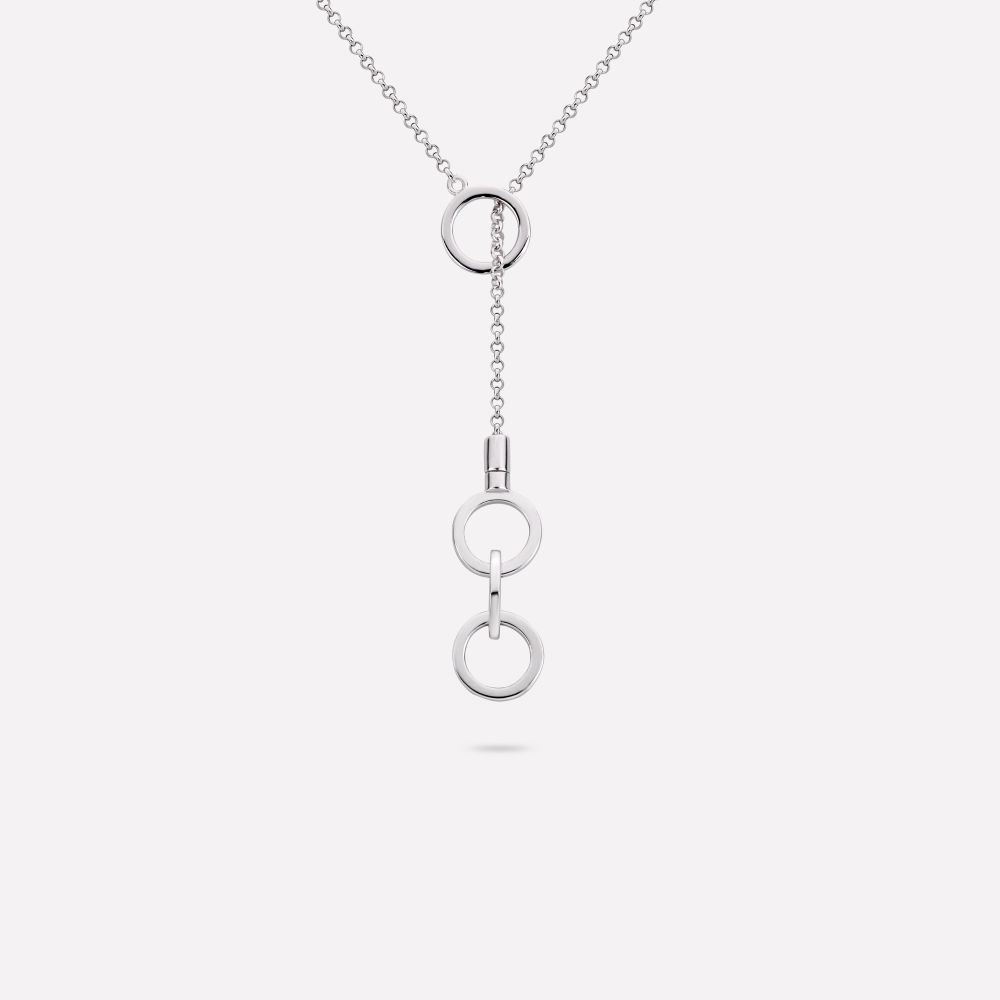 Necklaces - Necklace The Circle Of Love Silver