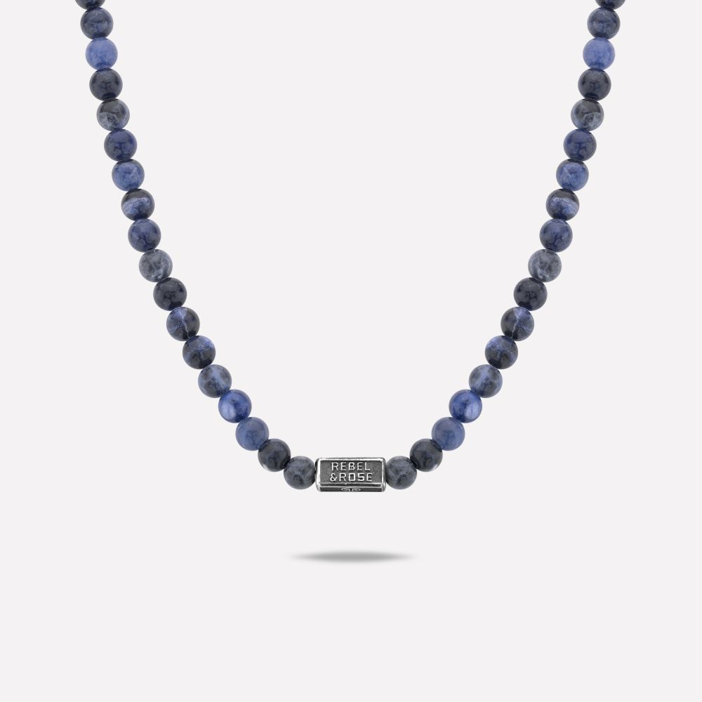 Necklaces - Necklace Midnight Blue - 6mm