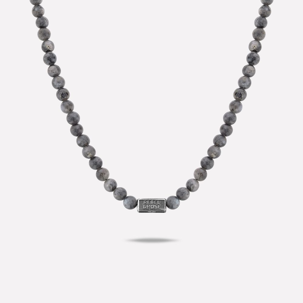 Necklaces - Necklace Grey Seduction - 6mm