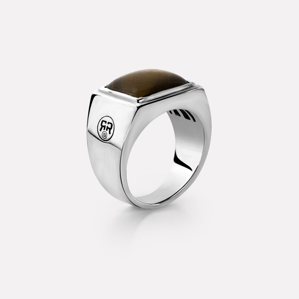 Sterling Silver Rings - Ring Square Tiger