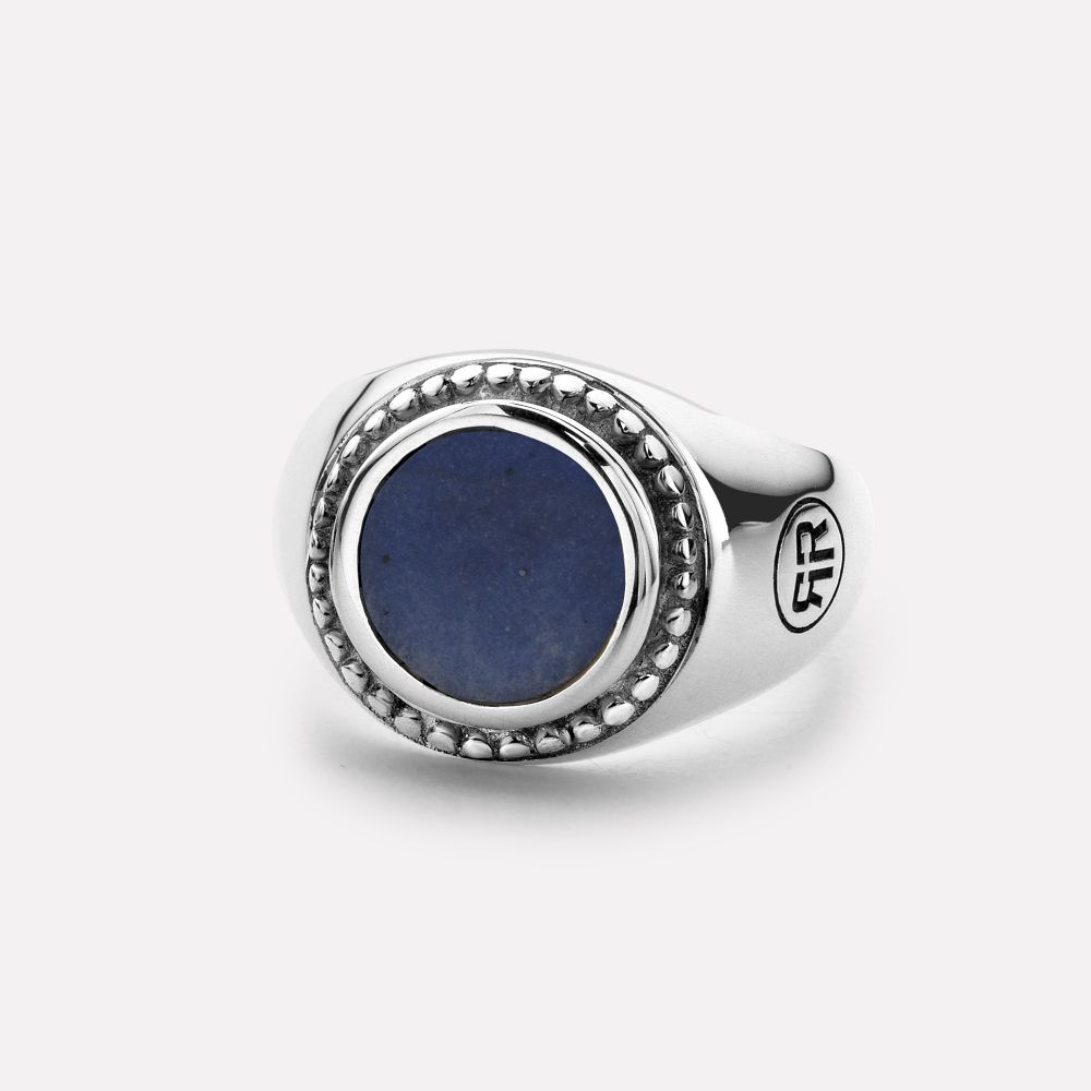 Sterling Silver Rings - Ring Women Round Lapis Lazuli