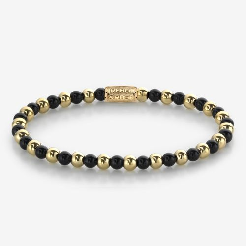 More Balls Than Most - Mix Black Madonna - 4mm - yellow gold plated