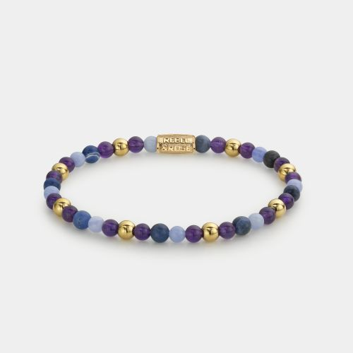 More Balls Than Most - Are Violets Blue? - 4mm - yellow gold plated