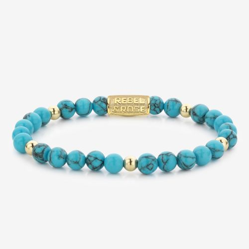 More Balls Than Most - Turquoise Delight II - 6mm - yellow gold plated
