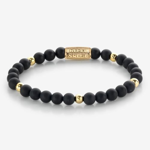 More Balls Than Most - Matt Black Madonna - 6mm - yellow gold plated