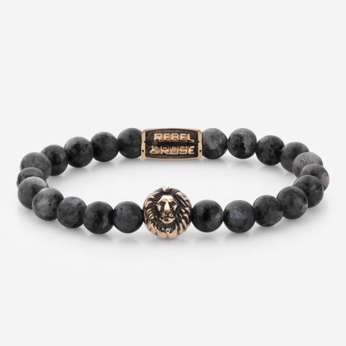 Lion Head - Grey Seduction - rose gold plated