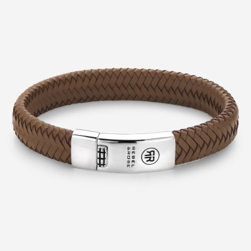 Absolutely Leather - Braided Oval - Handsome In Khaki