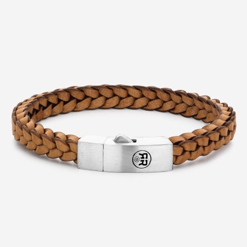 Absolutely Leather - Braided Square 925 Cognac