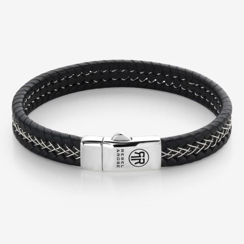 Absolutely Leather - Silver Wired Black