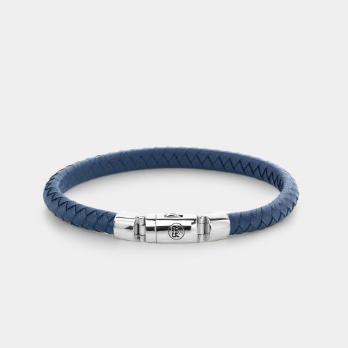 Absolutely Leather - Half Round Braided Blue