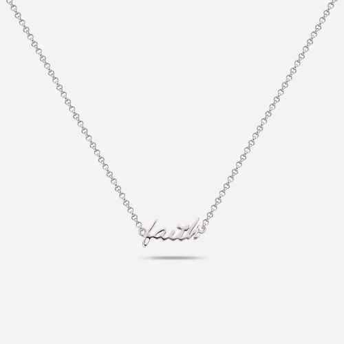Necklaces - Faith-Hope-Love Silver