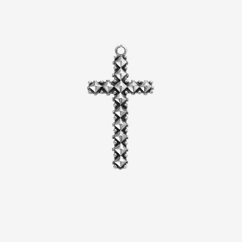 Necklaces - Pendant Studded Cross Antic