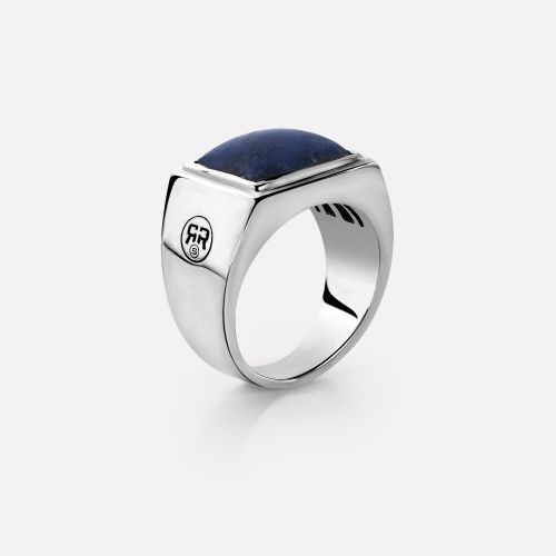 Sterling Silver Rings - Ring Square Lapis