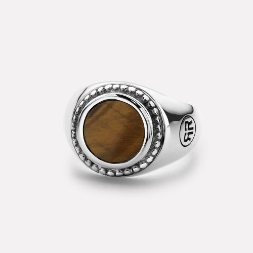 Sterling Silver Rings - Ring Women Round Tiger Eye