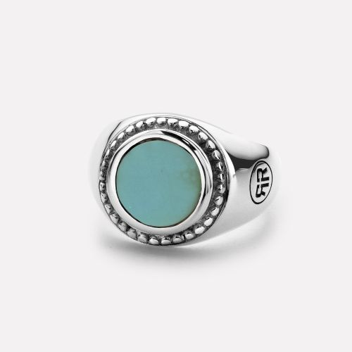 Sterling Silver Rings - Ring Women Round Turquois