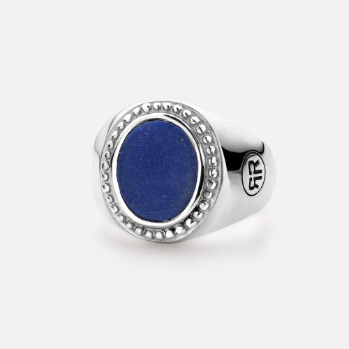 Sterling Silver Rings - Ring Women Oval Lapis Lazuli