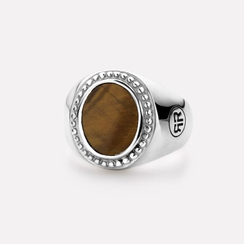 Sterling Silver Rings - Ring Women Oval Tiger Eye