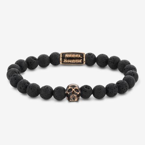 Skull-series - Skull Black Moon - rose gold plated