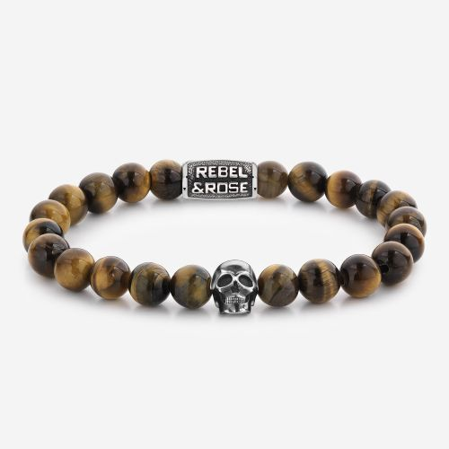 Skull-series - Skull Mixed Tiger Eye